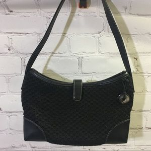 The Sak Black Woven Shoulder Bag